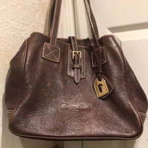 Dooney & Bourke Leather Tote Brown